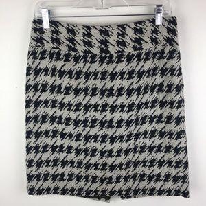 ANN TAYLOR Houndstooth Skirt